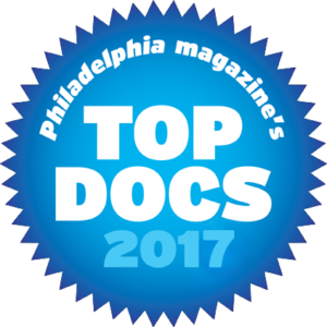 2017 Top Docs Award from Philly Magazine